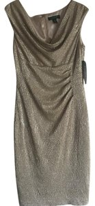 Ralph Lauren Metallic Cocktail Knee Length Dress