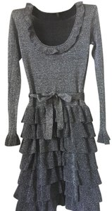 BCBGMAXAZRIA Metallic Knit Dress