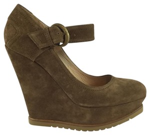 Pura Lopez Brown Platforms