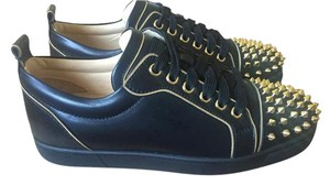 Christian Louboutin Gold Spikes BLACK Athletic
