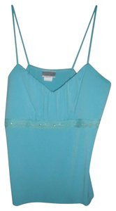 Fashion Bug Beaded Padded Bust Lace Top Turquoise Blue