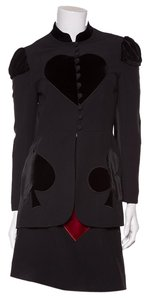 Moschino Moschino C & C Black 2 Piece Velvet Club Suit