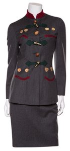 Moschino Moschino C & C Gray Walnut Suit