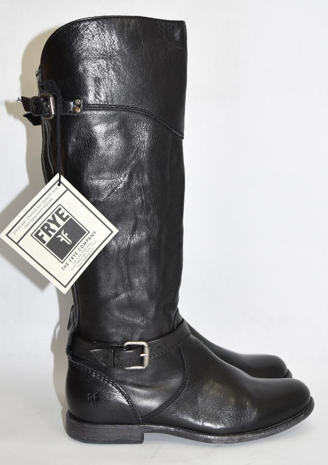 Frye Black Phillip Leather Riding Tall Buckle Moto Leather Phillip (Fy10) Boots/Booties a825f1
