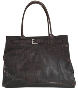 Kenneth Cole Leather Work Tote in Brown