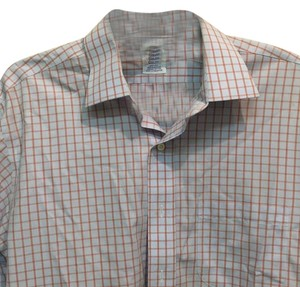 Brooks Brothers Button Down Shirt Blue and red