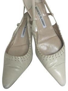 Manolo Blahnik Cream Pumps
