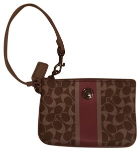 Coach Wristlet in Tan & Pink