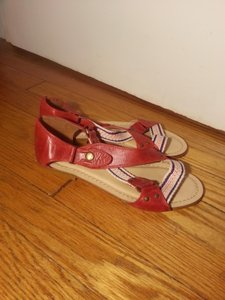 Anthropologie red Sandals
