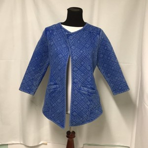 Lucky Brand Quilted 3/4 Sleeve Fading periwinkle Jacket