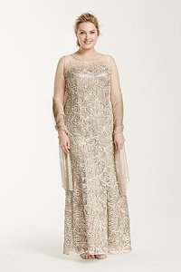 Ignite Evenings By Carol Lin Champagne 3016dw Dress