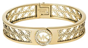 Michael Kors NWT Michael Kors Glitz Fulton Rose Gold Hinge Bangle Bracelet