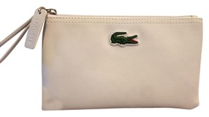 Lacoste Pouch Leather Wristlet in white