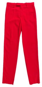 Gucci Trouser Wool Trouser Pants Red
