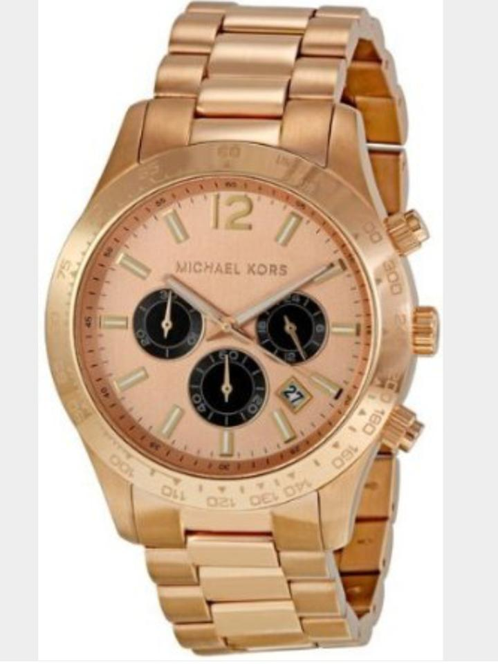 michael kors women s or men s rose gold chronograph watch 55 michael kors michael kors women s or men s rose gold chronograph watch