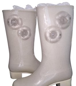 Chanel White Boots