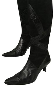 J. Renee Suede Eel Boot Black Boots