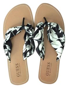 Guess By Marciano Black & White Sandals