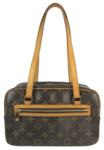 Louis Vuitton Brown Leather Lv Logo Cite Shoulder Bag