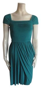 BCBGMAXAZRIA short dress teal on Tradesy