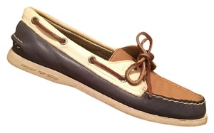 Sperry Blue, white, tan Flats