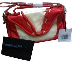 Cynthia Rowley New Two Straps Soft Leather Cross Body Bag