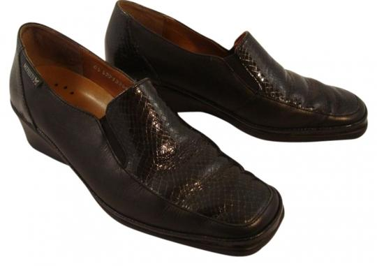 Preload https://item1.tradesy.com/images/mephisto-black-handcrafted-leather-reptile-slip-on-wedges-size-us-65-regular-m-b-19135-0-0.jpg?width=440&height=440