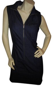 New Directions short dress Dark Blue Denim Jean Comfortable on Tradesy