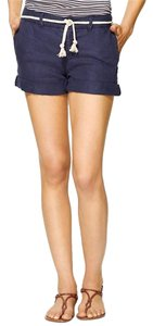 Michael Stars Linen Rope Tie Navy Mini/Short Shorts Ship (Navy)