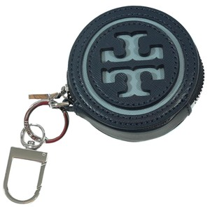 Tory Burch TORY BURCH Logo Perforated Circle Pouch, Blue
