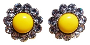Miu Miu Clip Earrings with white Swarovski (C) crystals