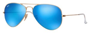 Ray-Ban RAY-BAN AVIATOR RB3025 GOLD with BLUE MIRROR LENS size 58