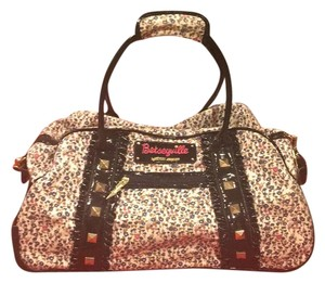 Betseyville by Betsey Johnson Light Pink Floral Travel Bag