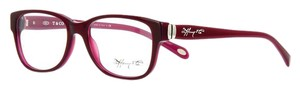 Tiffany & Co. TF 2084 TF2084 RED BURGUNDY EYEGLASSES GLASSES SQUARE SILVER