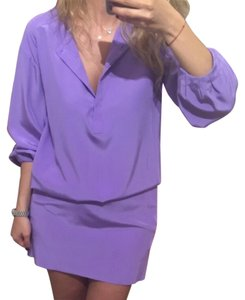 Diane von Furstenberg short dress Lilac on Tradesy