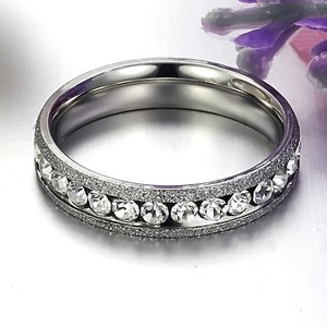 Channel Set Round Brilliants Wedding Band