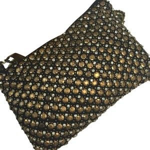 Anthropologie Bronze/Black Clutch