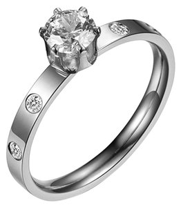 Titan Bliss 0.5 Carat Round Simulated Diamond Ring