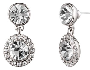 Givenchy Swarovski Crystal Pave Drop Earrings