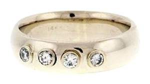 14k gold 1/2 ct diamond bezel 6mm wedding band