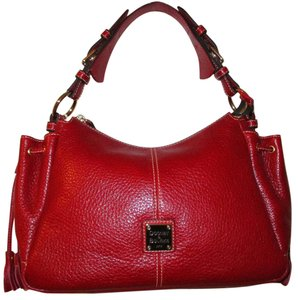 Dooney & Bourke Leather Tote in Red