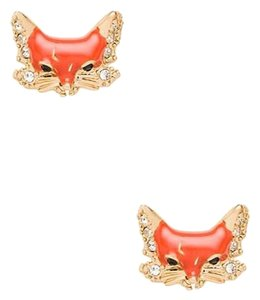Kate Spade New Kate Spade Into The Woods Fox Stud Earrings