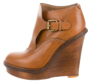Chlo Fall Winter Leather Brown Boots
