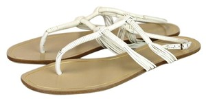 Gucci Leather Gladiator Thong White 9022 Sandals