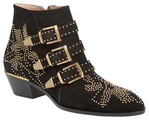 Chloé Black with Gold Boots