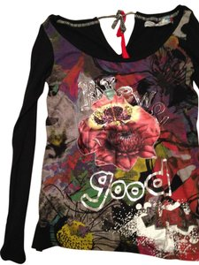Desigual T Shirt Black and multicolor