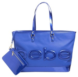 bebe Madison Vegan Tote in dazzling blue