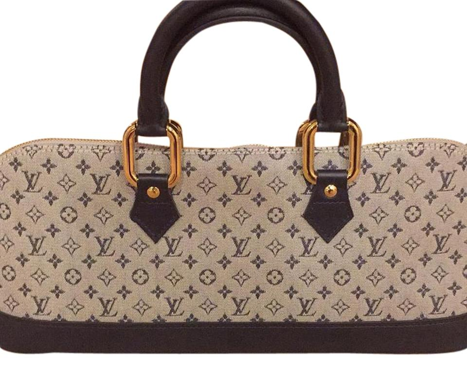 69171dd8c Louis Vuitton Classic Logo Light Grey Fabric with Leather Trimming ...