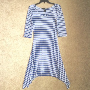 Rebel Sugar short dress Blue and white stripes on Tradesy