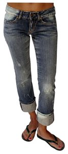 Serfontaine Straight Leg Jeans-Distressed